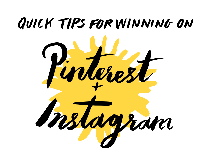 pinterest and instagram tips
